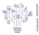 vector medical center logo... | Shutterstock .eps vector #492934297