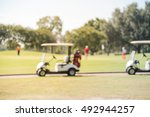 blurred image of electric golf... | Shutterstock . vector #492944257