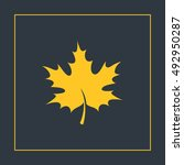 maple leaf icon vector  clip...