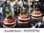 festive appetizer with foie... | Shutterstock . vector #492959743