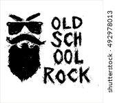 vintage poster old school rock  ...