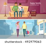 eastern people two horizontal...   Shutterstock .eps vector #492979063