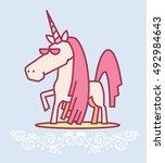 vector illustration of cute... | Shutterstock .eps vector #492984643