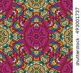 seamless pattern ethnic style.... | Shutterstock . vector #493001737