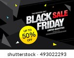 black friday sale banner | Shutterstock .eps vector #493022293