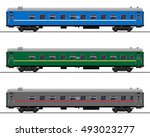 Passenger Train Cars. Railway...