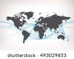 world map sea transport vector... | Shutterstock .eps vector #493029853
