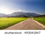 road through alps. | Shutterstock . vector #493041847