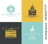 vector flat logo collection for ... | Shutterstock .eps vector #493057777