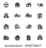 house type web icons for user... | Shutterstock .eps vector #493070647