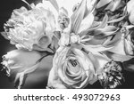 close up wild rose and flowers... | Shutterstock . vector #493072963