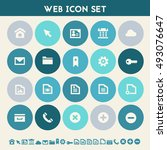 web icon set. multicolored flat ...