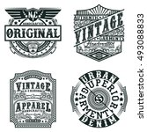 set of vintage typography  t... | Shutterstock .eps vector #493088833