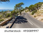 road to the beach. asphalt road ... | Shutterstock . vector #493089997