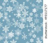 snowflake vector pattern. | Shutterstock .eps vector #493117177