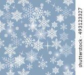 snowflake vector pattern. | Shutterstock .eps vector #493123327