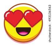 vector in love emoticon... | Shutterstock .eps vector #493136563