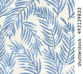 seamless floral pattern in blue ...   Shutterstock . vector #493139833