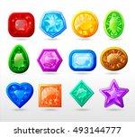 gui cartoon buttons set...   Shutterstock .eps vector #493144777