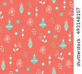 vector seamless patterns. hand... | Shutterstock .eps vector #493148107