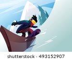 vector illustration rider... | Shutterstock .eps vector #493152907