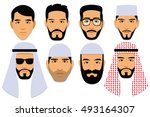 vector set of different middle... | Shutterstock .eps vector #493164307