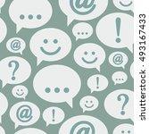 vector speech bubbles. seamless ...   Shutterstock .eps vector #493167433