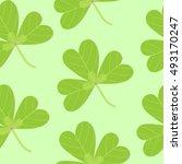 clover pattern | Shutterstock . vector #493170247