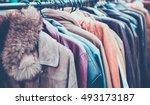 selective focus second hand of... | Shutterstock . vector #493173187