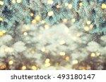 closeup of christmas tree... | Shutterstock . vector #493180147