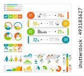 infographics set with color... | Shutterstock .eps vector #493183627