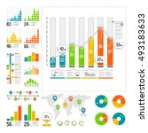 infographics set with color... | Shutterstock .eps vector #493183633