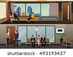 a vector illustration of job... | Shutterstock .eps vector #493193437