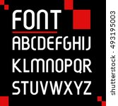 futuristic font.vector... | Shutterstock .eps vector #493195003