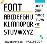 futuristic font.vector... | Shutterstock .eps vector #493195027