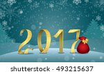happy new year. numbers 2017... | Shutterstock .eps vector #493215637