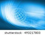 global business background ... | Shutterstock . vector #493217803