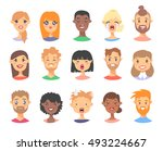 set of emoji characters.... | Shutterstock .eps vector #493224667
