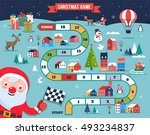 christmas village map  winter... | Shutterstock .eps vector #493234837