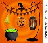 abstract vector illustration of ... | Shutterstock .eps vector #493242613