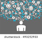 social network background of... | Shutterstock .eps vector #493252933