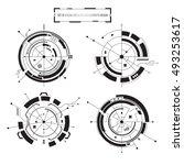 vector icon set of 4 circular... | Shutterstock .eps vector #493253617
