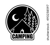 Night Camping Logo. Emblem For...