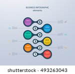 infographics timeline template... | Shutterstock .eps vector #493263043