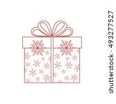 vector illustration of gift box ... | Shutterstock .eps vector #493277527