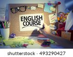english language learning... | Shutterstock . vector #493290427
