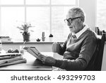 reading relaxation pension... | Shutterstock . vector #493299703