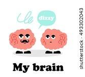 brain mascot | Shutterstock .eps vector #493302043