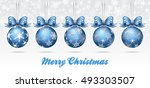 christmas bauble on a snowflake ... | Shutterstock . vector #493303507
