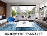 luxury scandinavian styled... | Shutterstock . vector #493316377